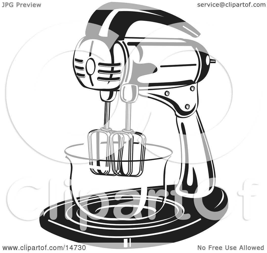 Mixer Clip Art ~ Electric mixer in a kitchen clipart illustration by andy