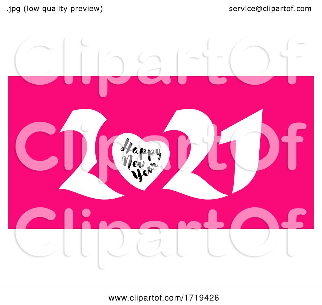 Elegant White Numbers 2021 with Heart and Happy New Year ...