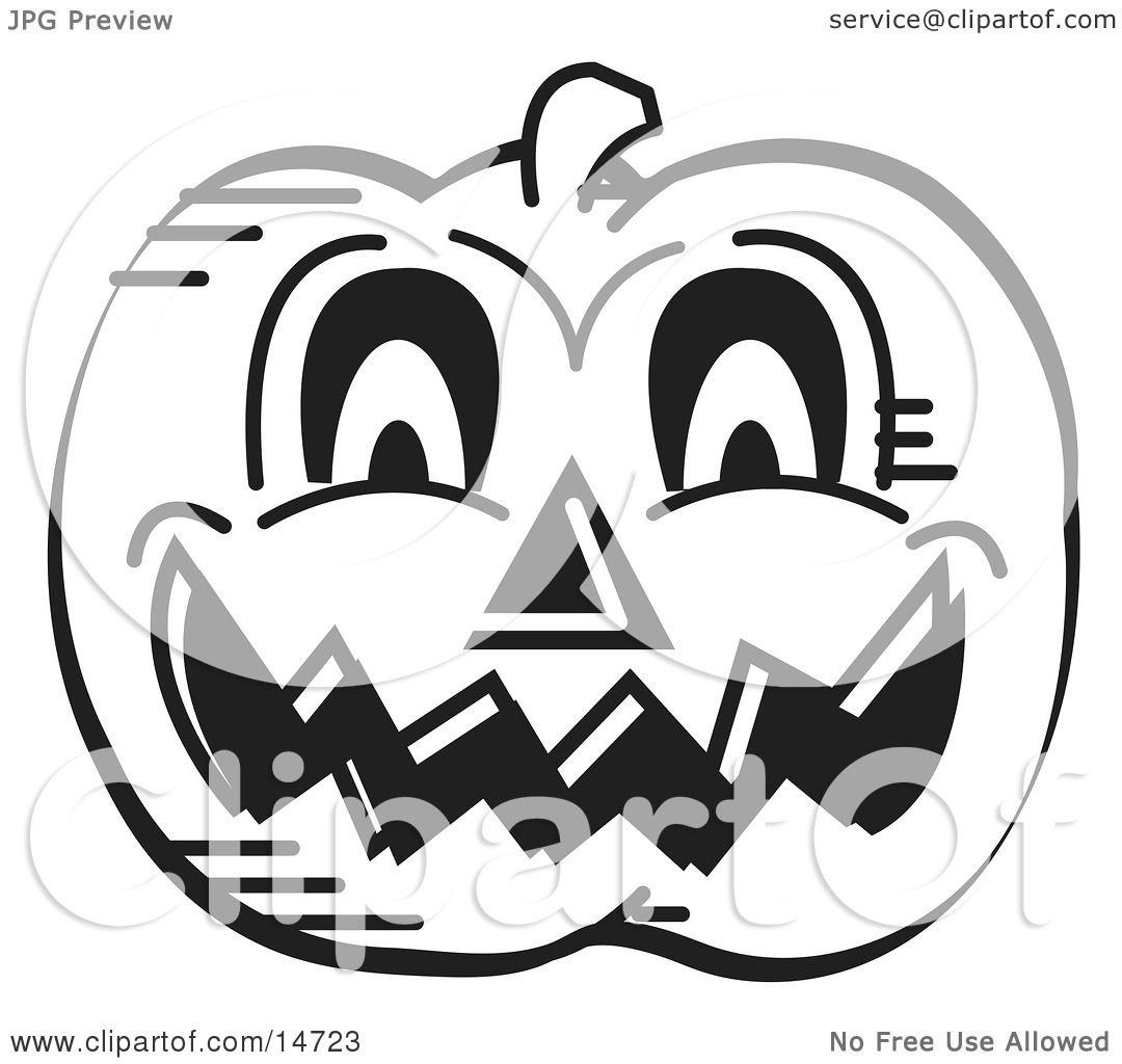 Halloween Pumpkin Clipart Black And White.Evil Carved Halloween Pumpkin Black And White Clipart