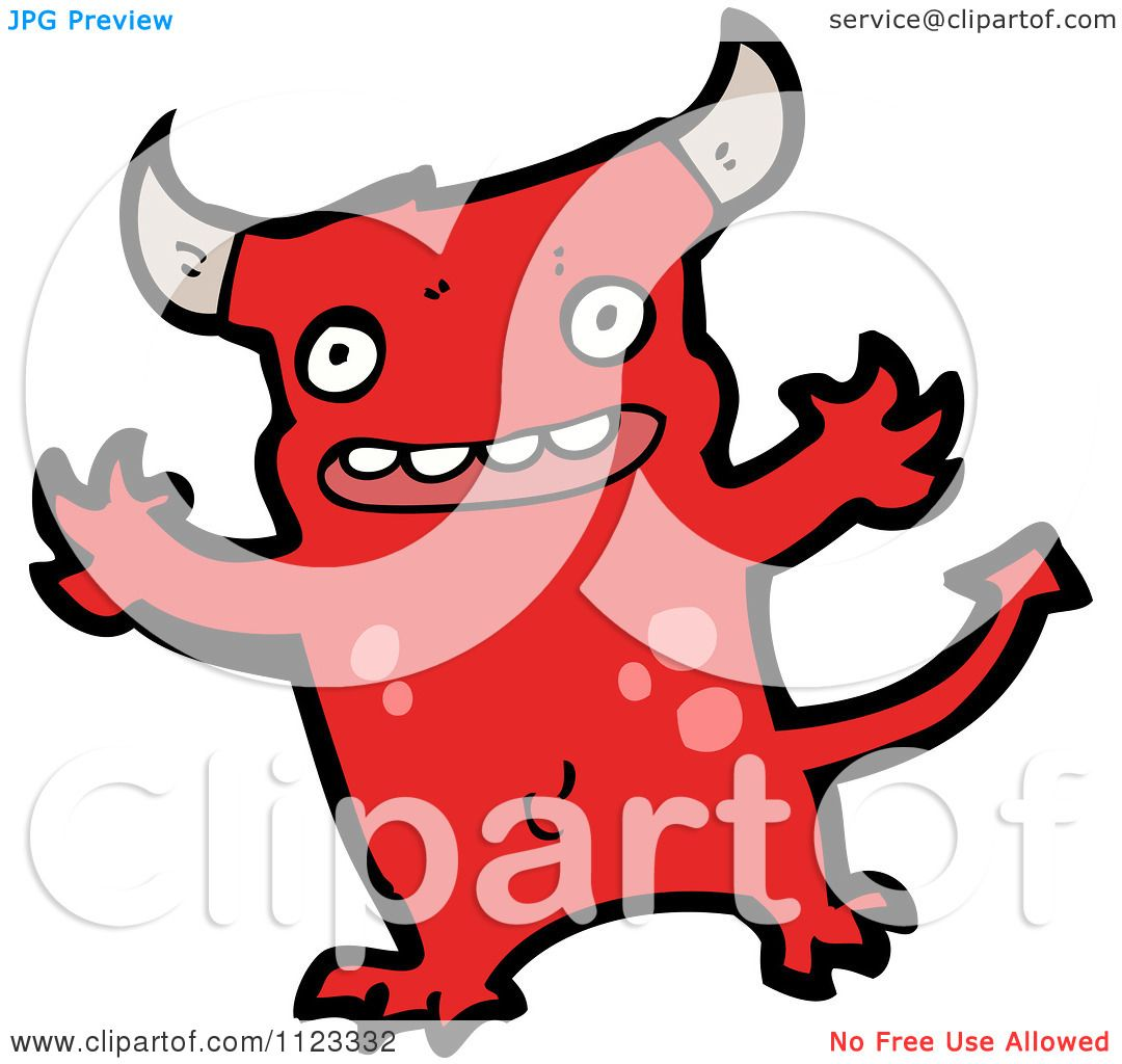 Fantasy Cartoon Of A Red Devil Monster 12 - Royalty Free Vector ...