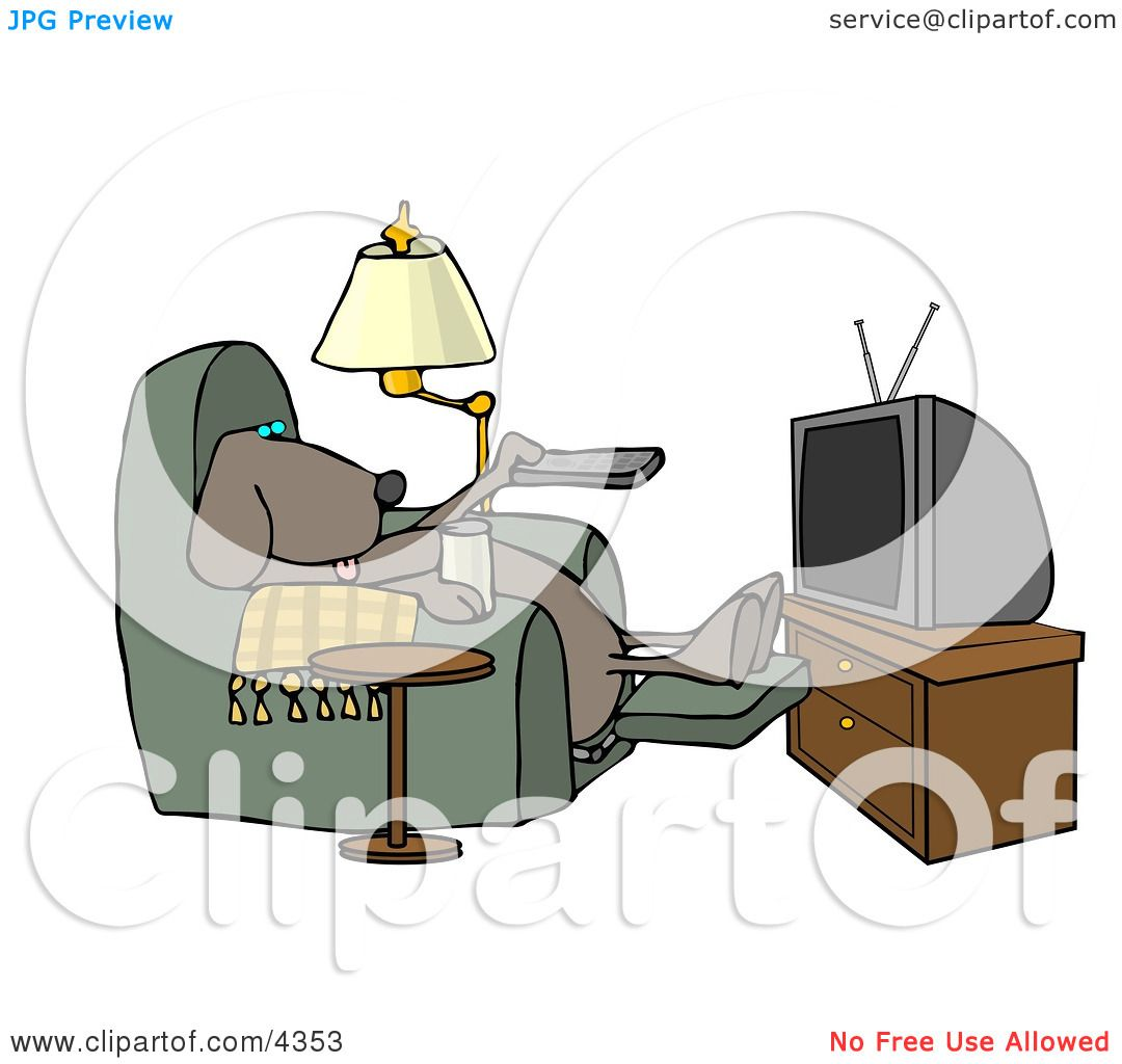 Funny Dog Sitting In a Recliner with a Beer Changing TV Channels with Remote Controller Clipart by djart  sc 1 st  Clipart Of & Funny Dog Sitting In a Recliner with a Beer Changing TV Channels ... islam-shia.org