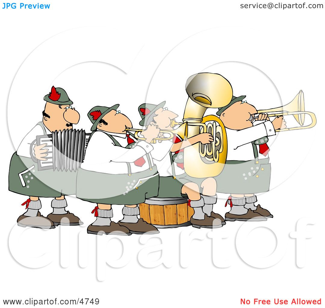 German Band Playing Musical Instruments Together Clipart by djart ...