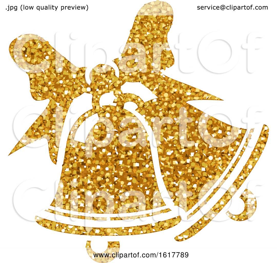 Golden Glitter Christmas Bells by dero #1617789