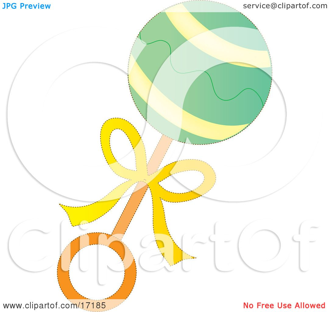 Green, Yellow and Orange Baby Rattle Toy Clipart Illustration by ...