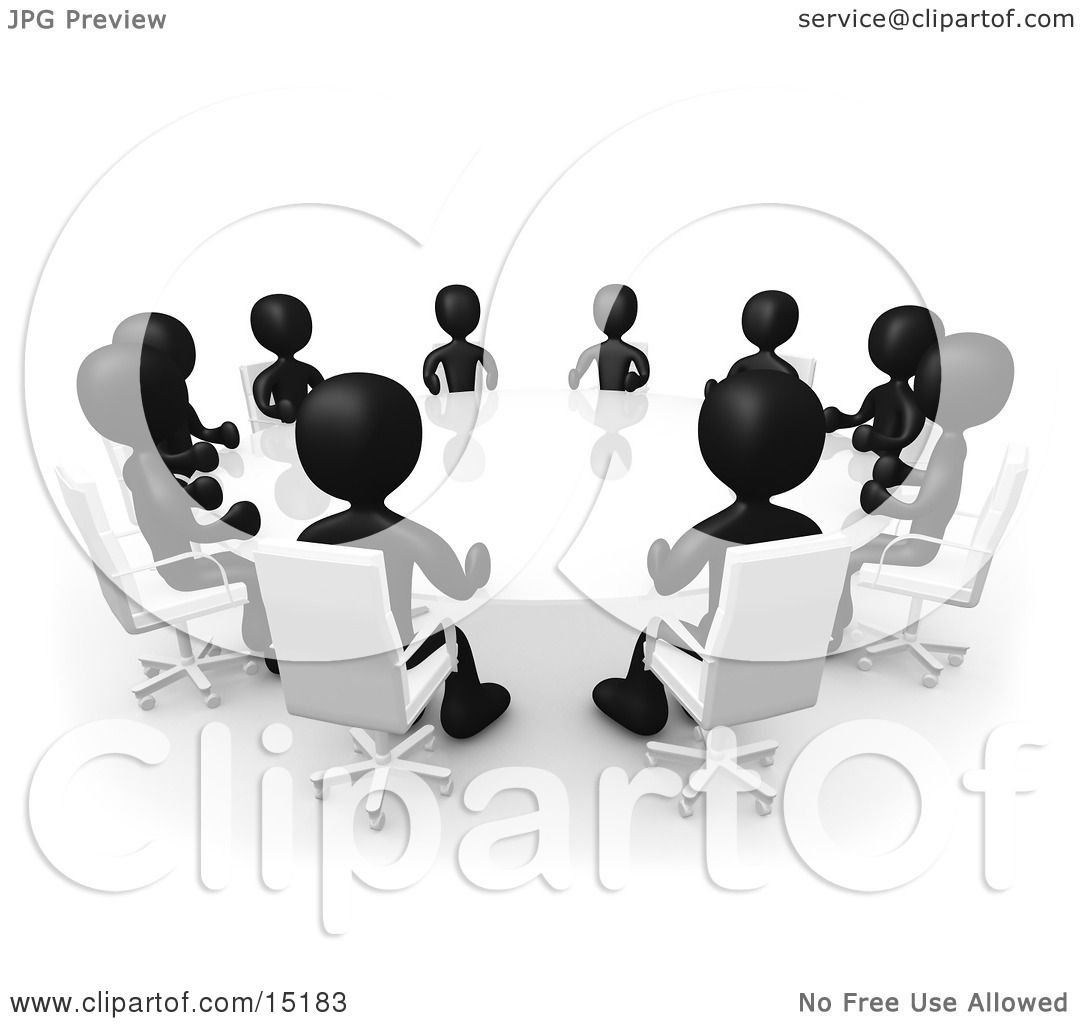 Black People Meeting Clipart