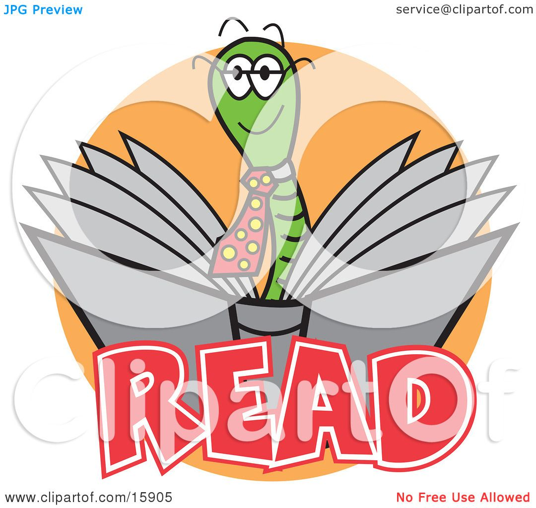 Reading Clip Art And reading a book clipart