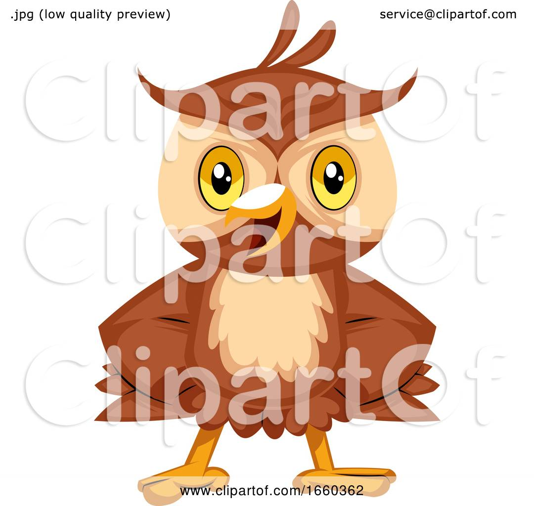 Happy Owl Smiling by Morphart Creations #1660362