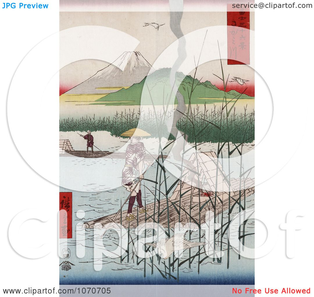 of Mt Fuji, Japan - Royatly Free Historical Stock Illustration by JVPD ...: freecoloringpages.co.uk/?r=mt. fuji