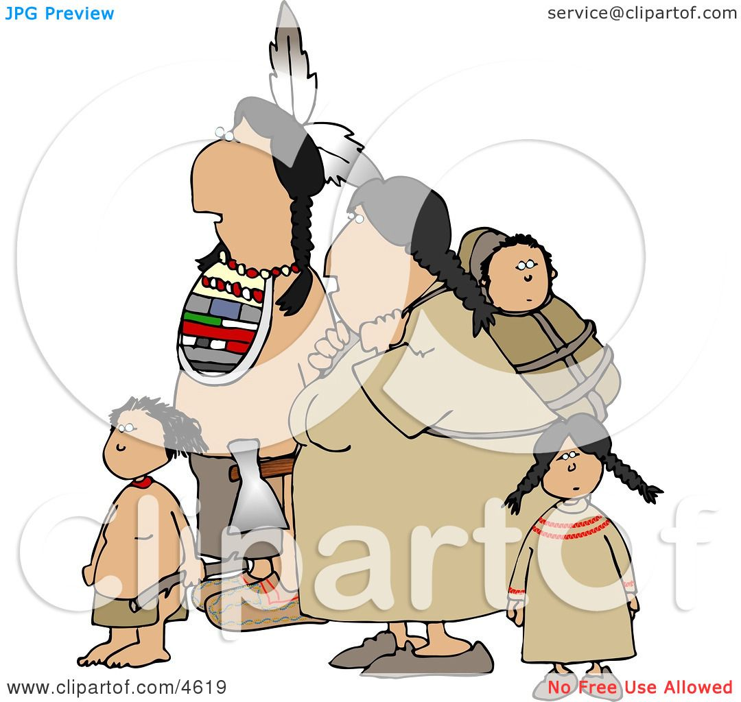 Indian Family Hiking Together Clipart By Djart