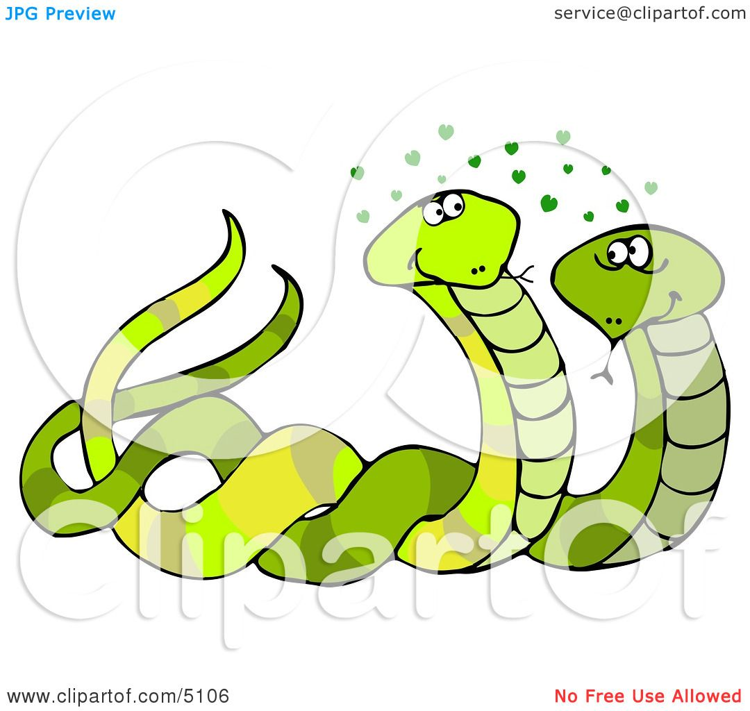 Male  Female Snakes Mating Clipart By Djart 5106-7156