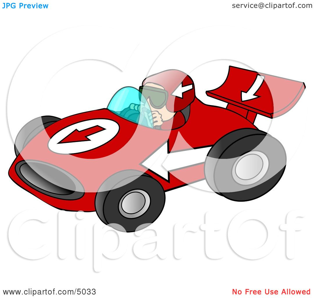Man Driving a Fast Race Car Down a Speedway Clipart by Dennis Cox ...