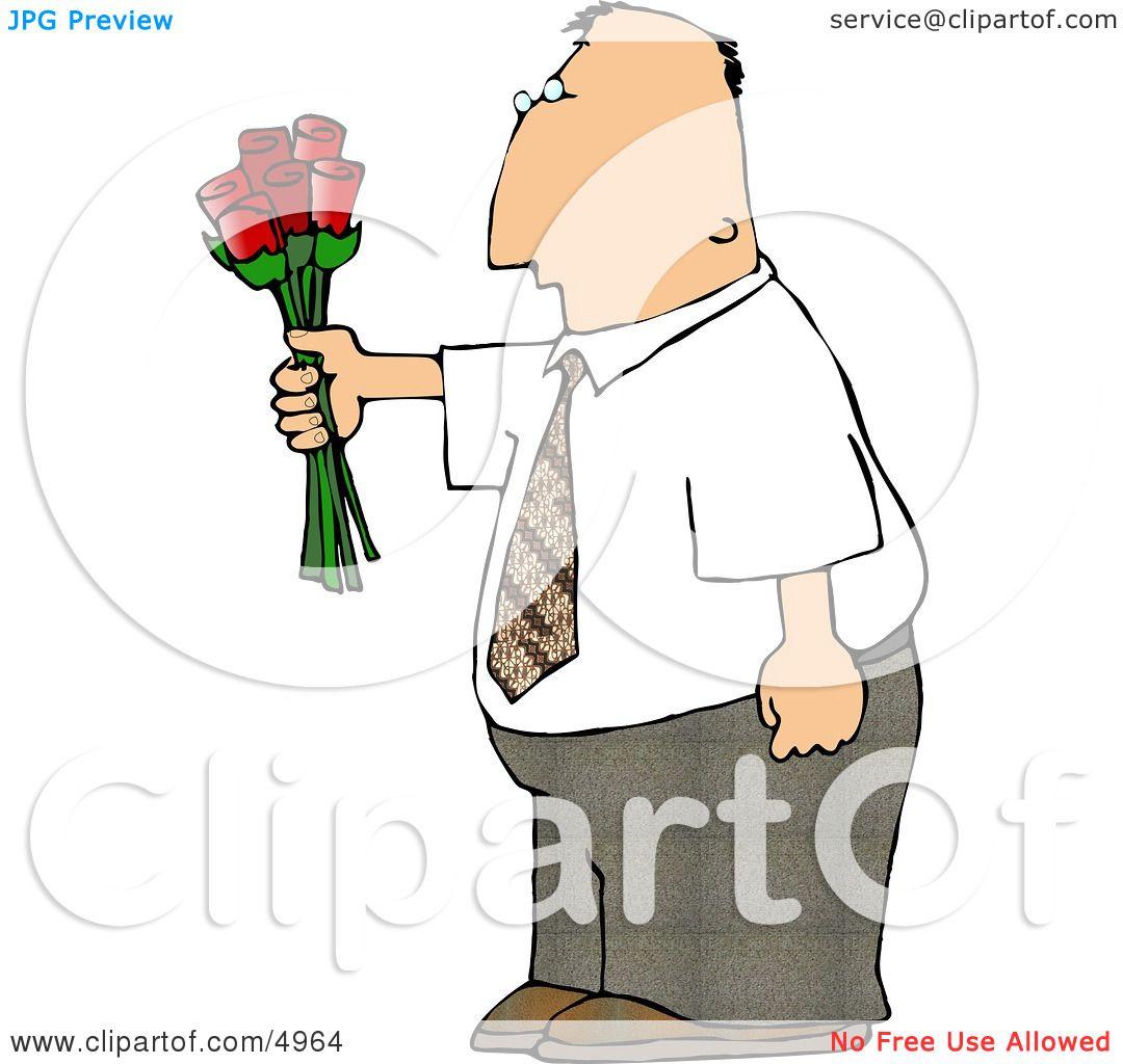 Man Giving Flowers Clipart by djart #4964