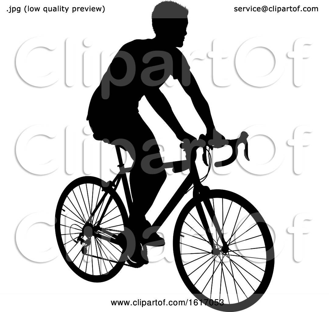 Man Riding a Bike by AtStockIllustration #1617053