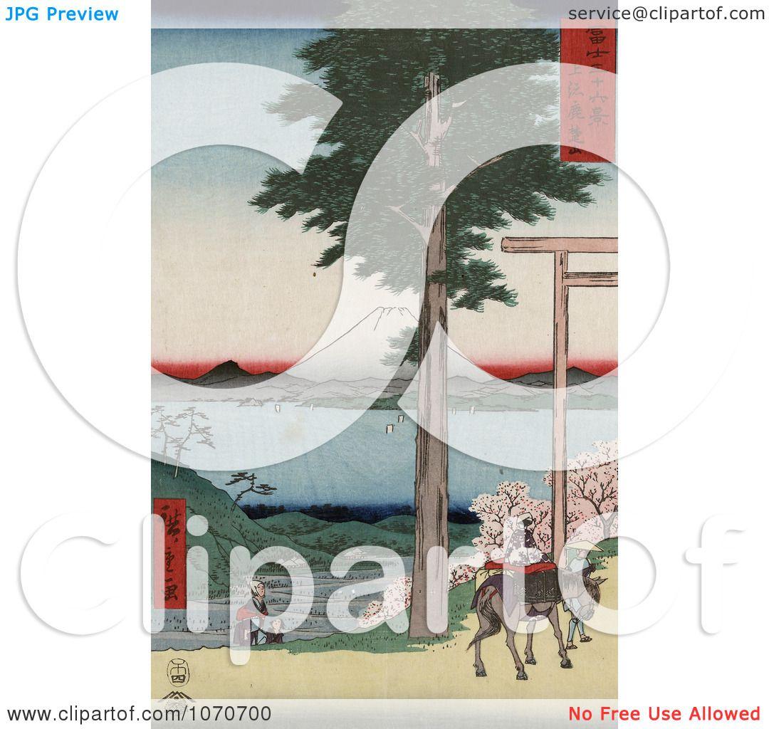 ... , Japan - Royatly Free Historical Stock Illustration by JVPD #1070700: www.clipartof.com/portfolio/jvpd/illustration/mount-fuji-from...