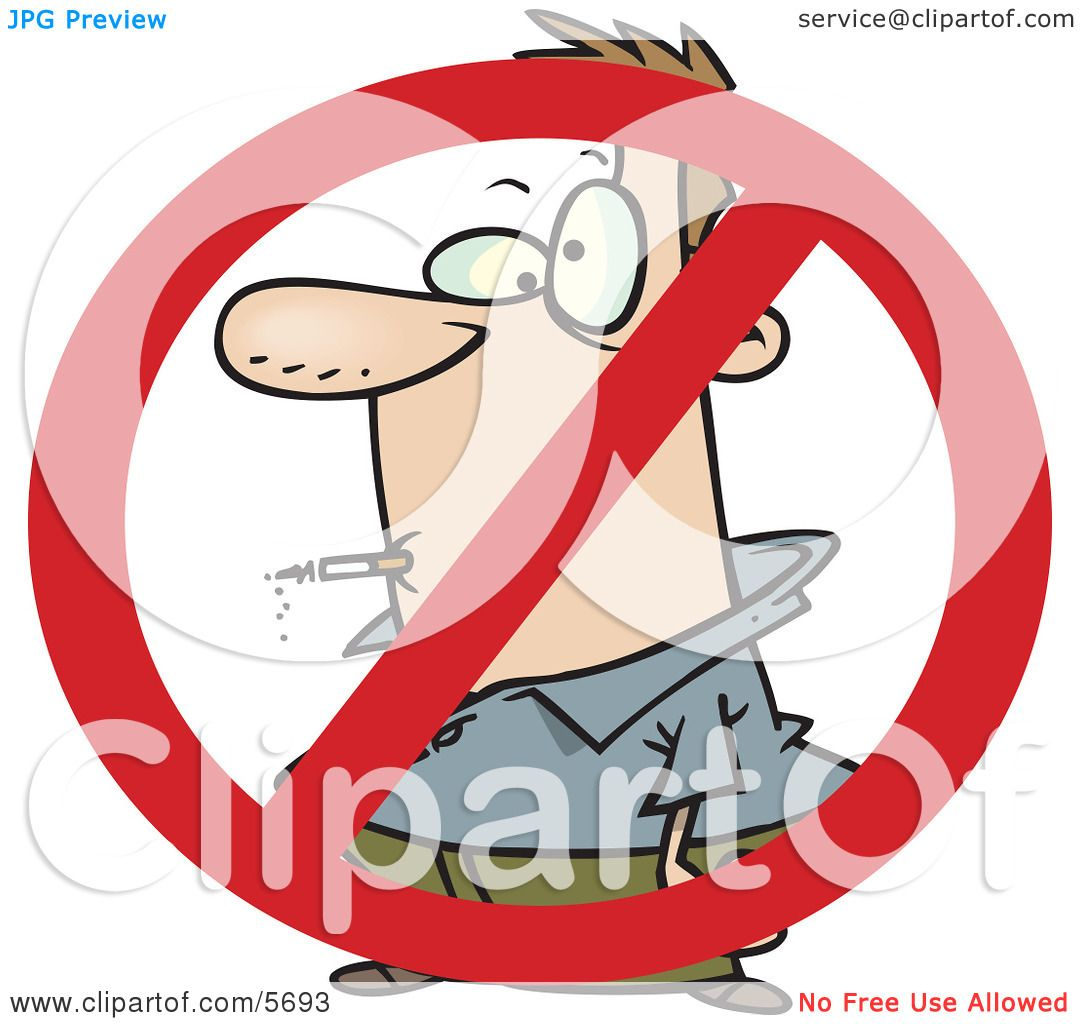 No smoking symbol over a man smoking a cigarette clipart no smoking symbol over a man smoking a cigarette clipart illustration by toonaday biocorpaavc Image collections