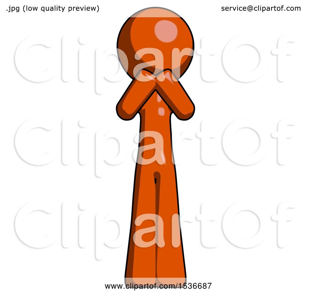 Gasp Design orange design mascot laugh giggle or gasp pose by leo