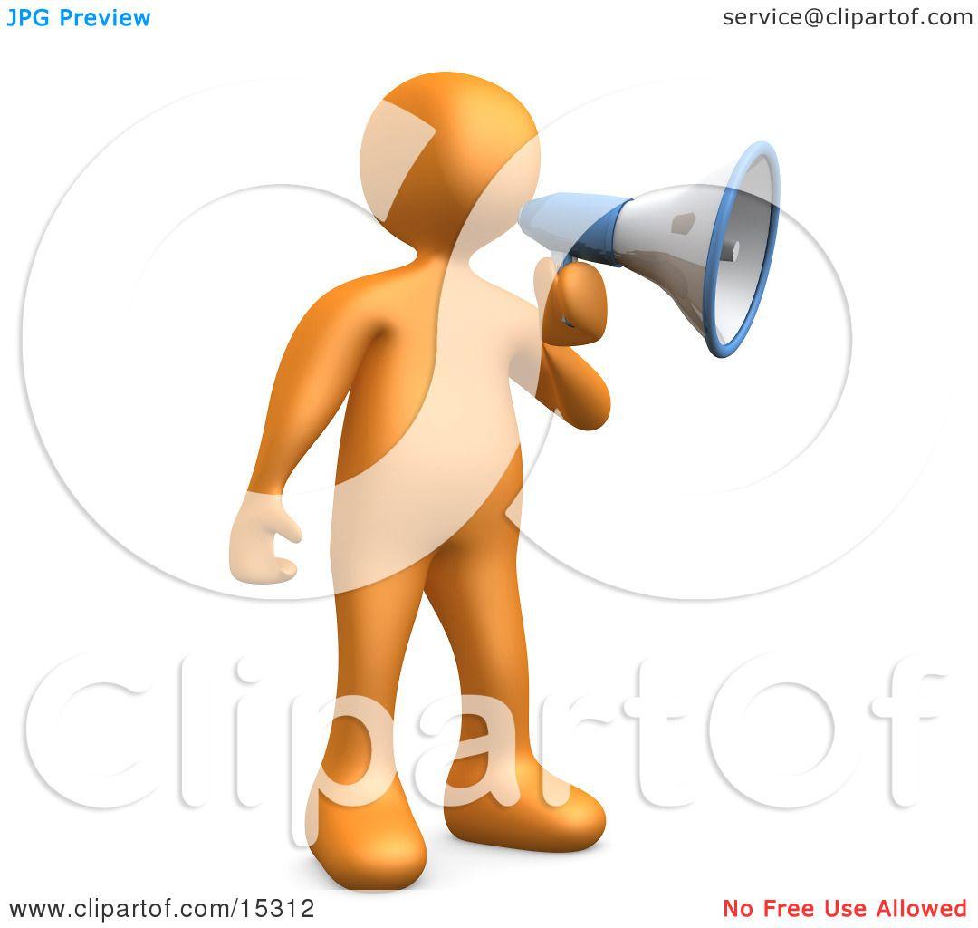 Megaphone Man Clipart a Megaphone Clipart