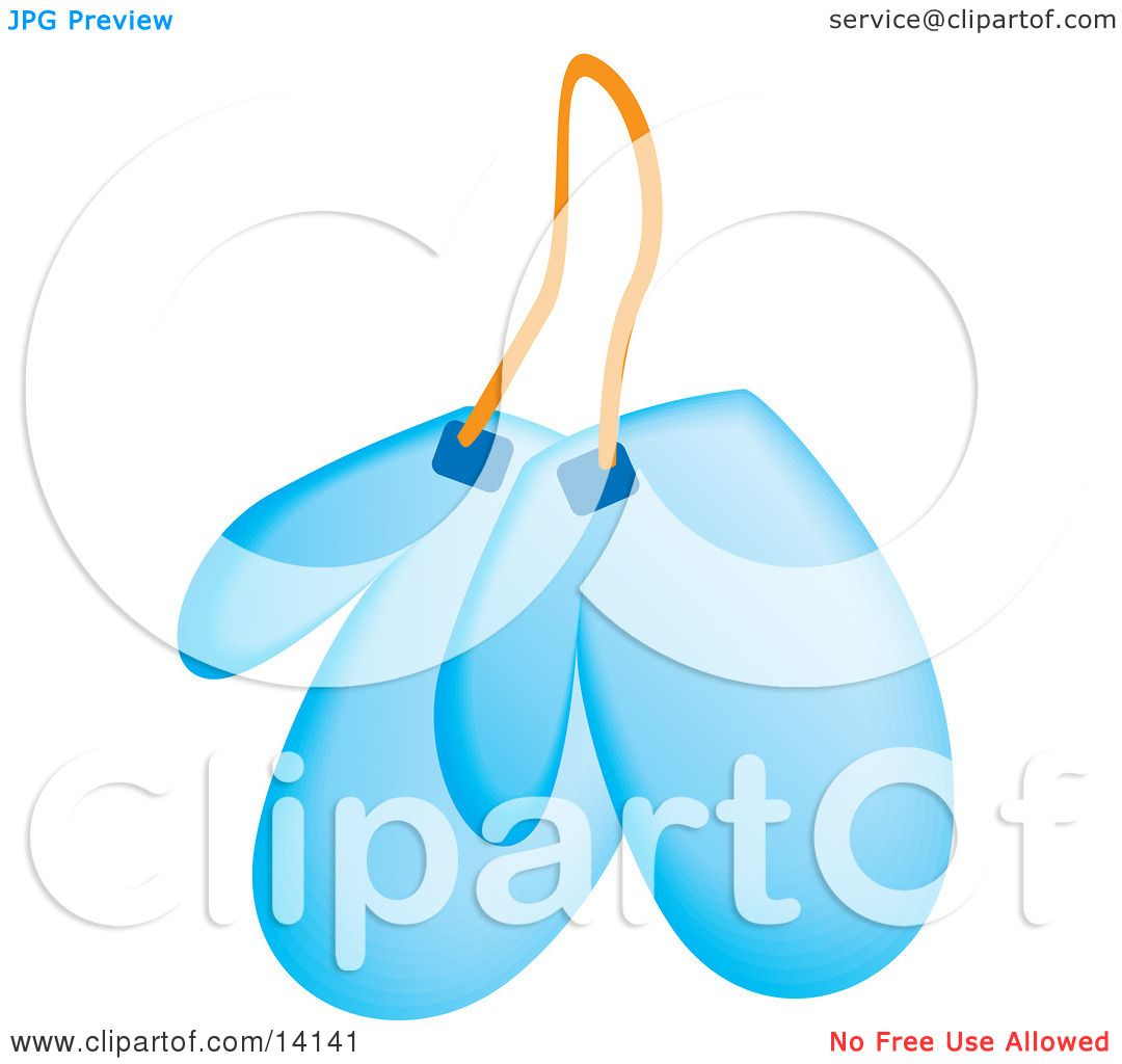 Pair of Blue Kitchen Mits Food Clipart Illustration by Rasmussen ...
