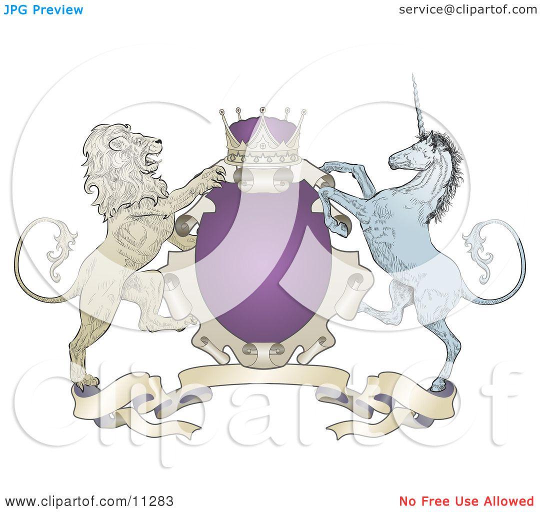 Purple Crown Clipart Purple Crown Lion And Blue