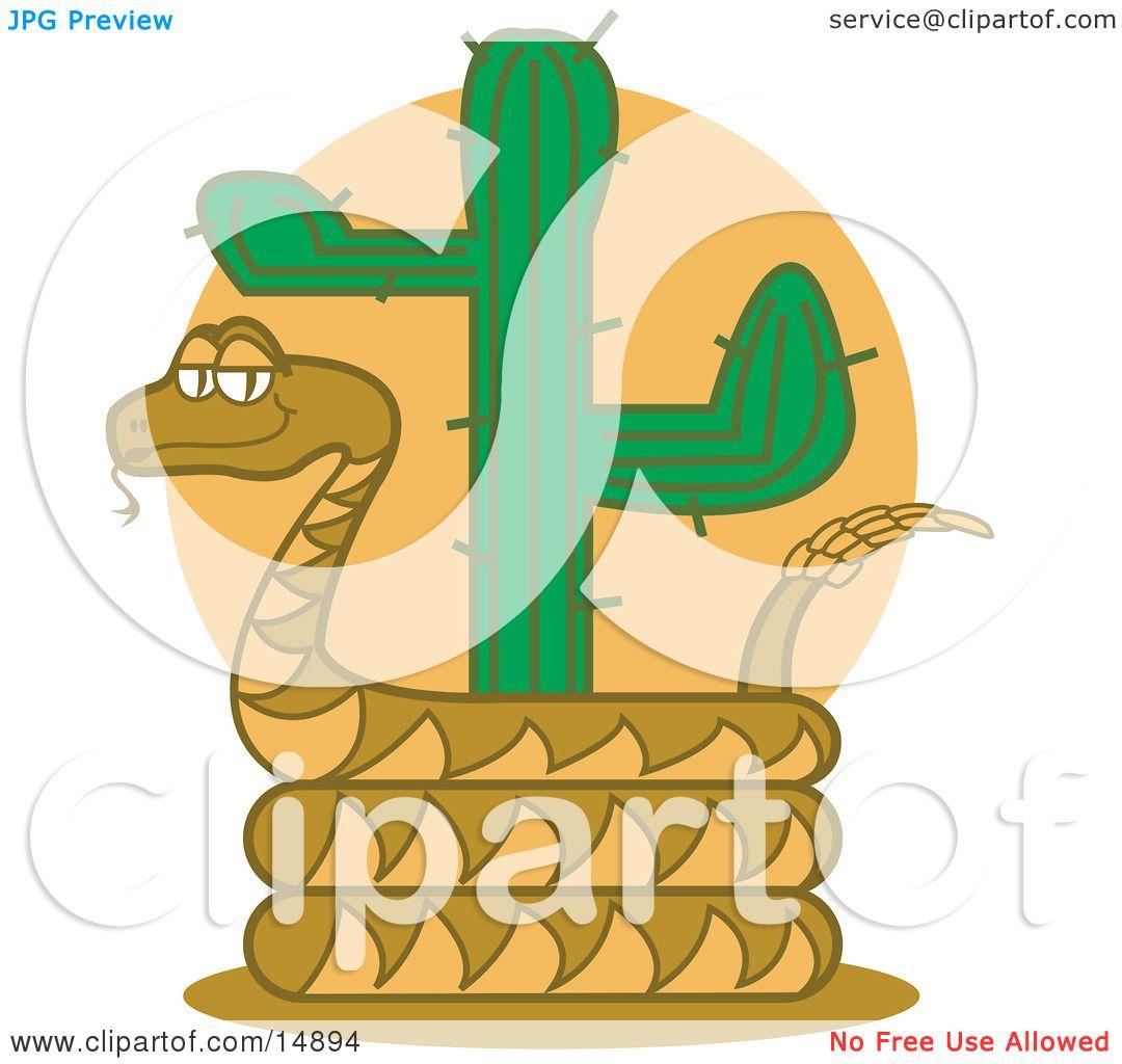 Rattlesnake Holding Out His Rattlesnake Clipart