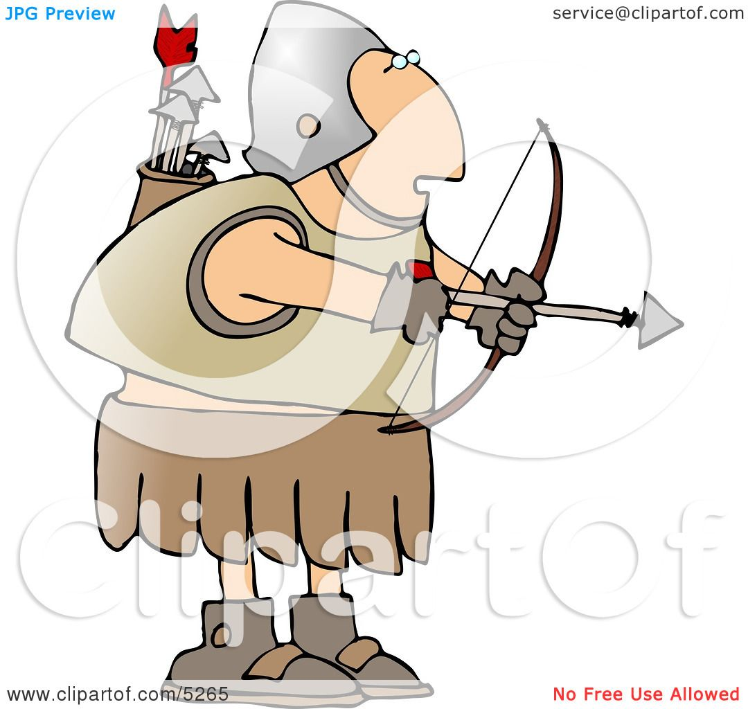 Roman Archer Soldier Shooting An Arrow Clipart By Djart #5265