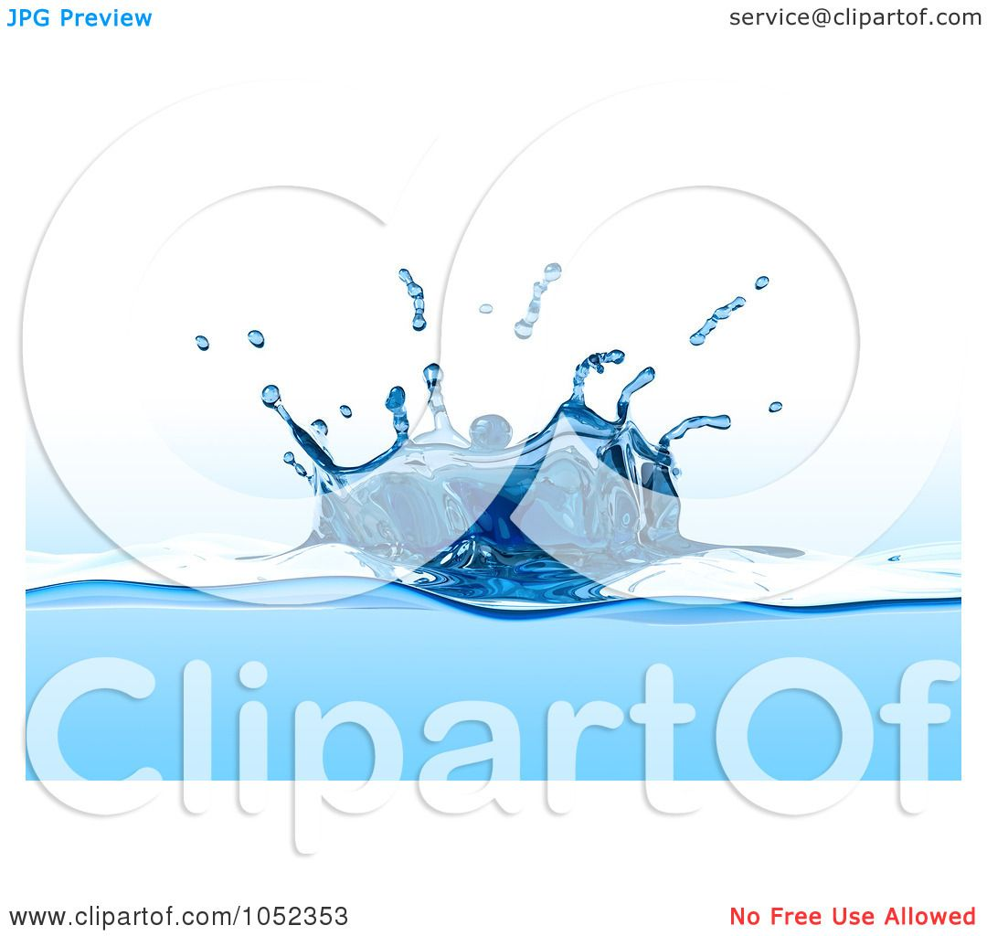 Royalty Free 3d Clip Art Illustration Of A 3d Blue Water