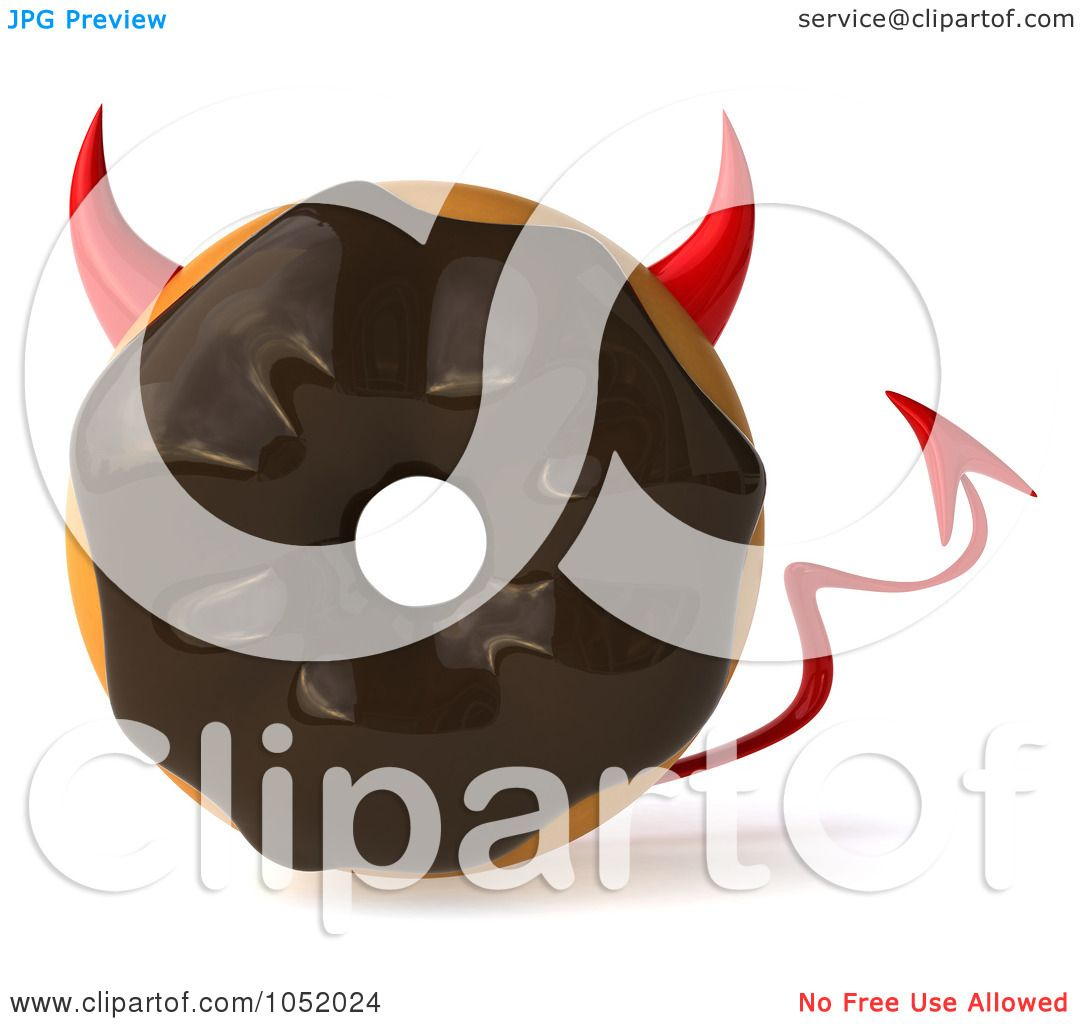 ... royalty free 3d clip art illustration of four 3d chocolate frosted