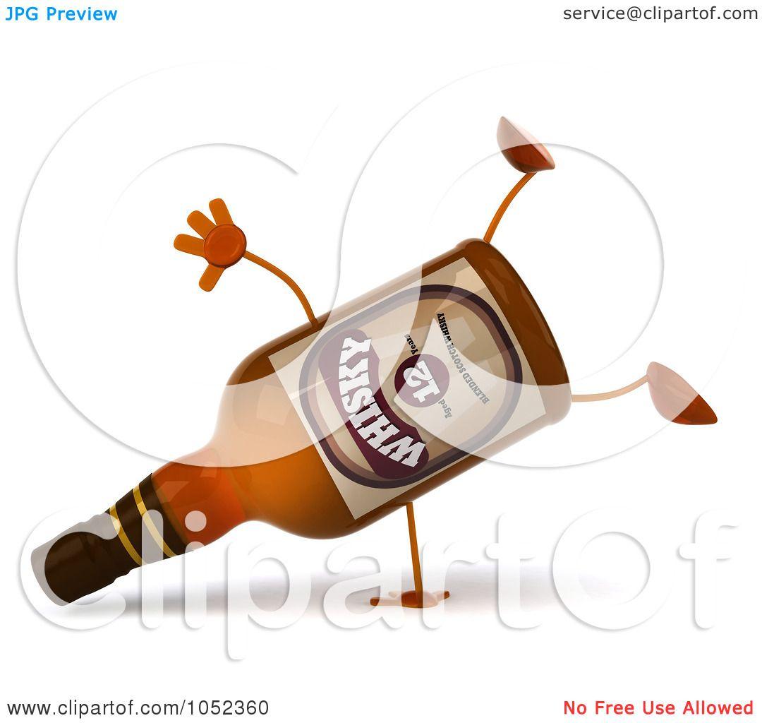 Royalty-Free 3d Clip Art Illustration of a 3d Whisky Bottle ...