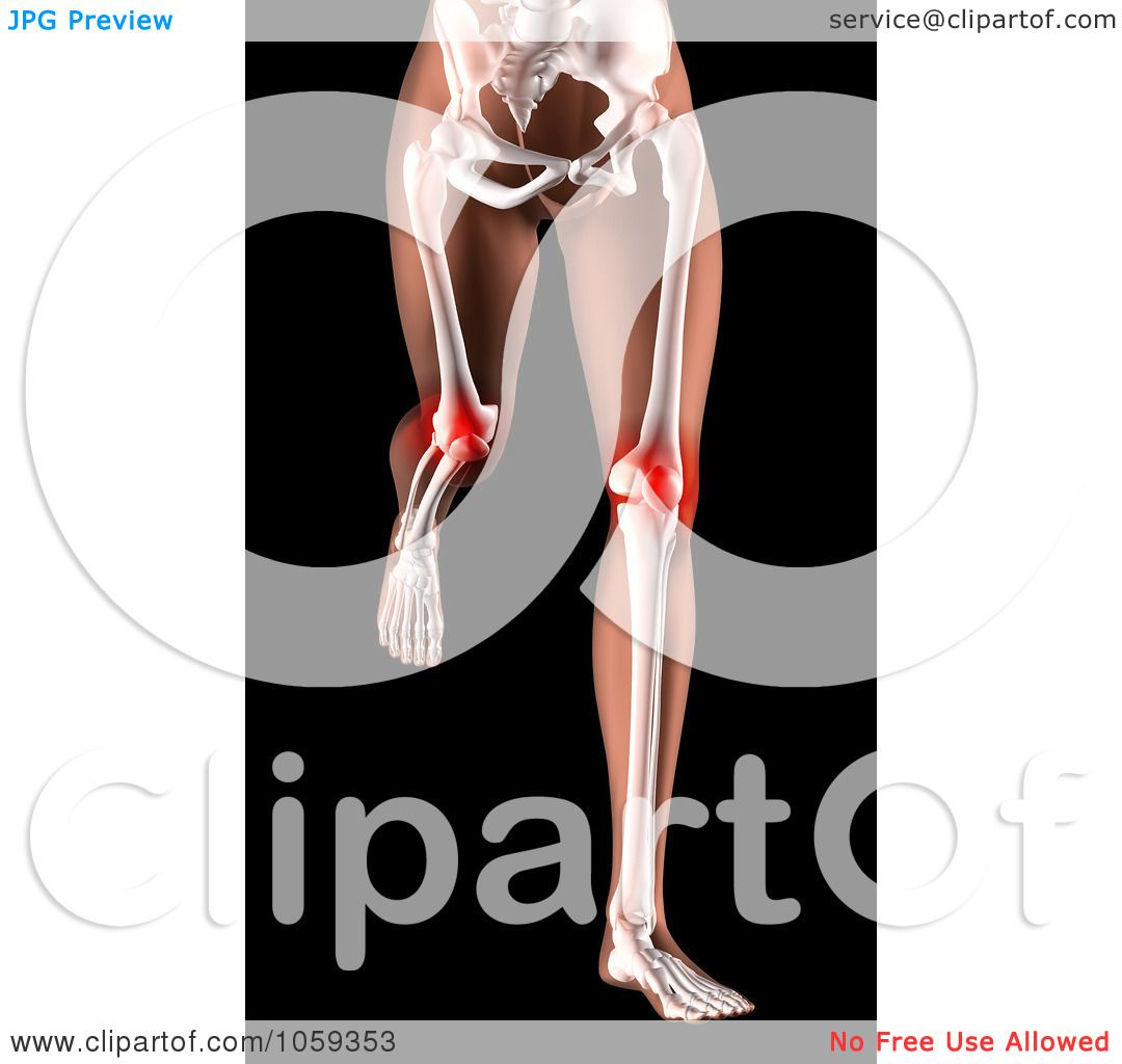 Body Art Below The Knee: Royalty-Free CGI Clip Art Illustration Of A 3d Woman's