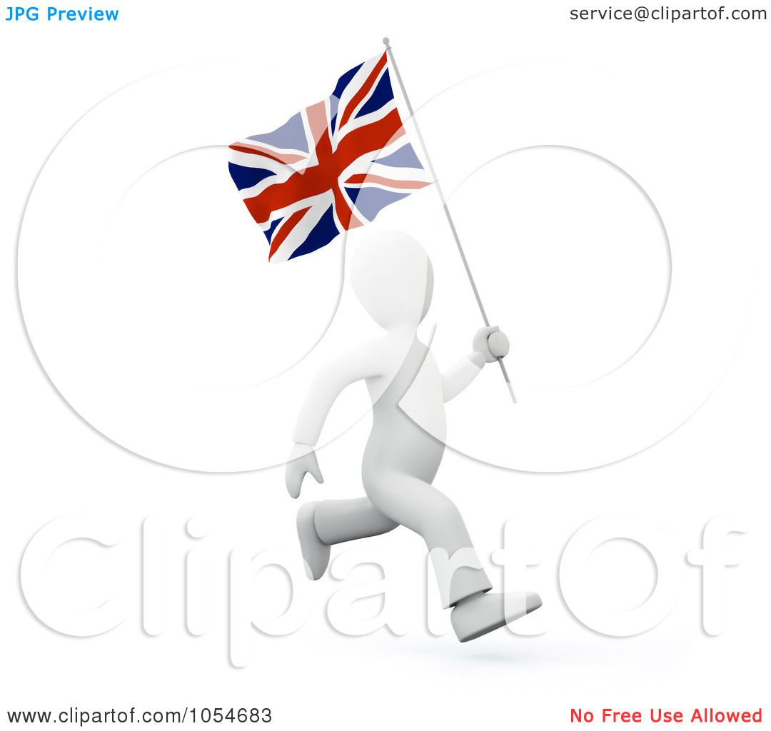 Royalty-Free Clip Art Illustration of a 3d White Person Running ...
