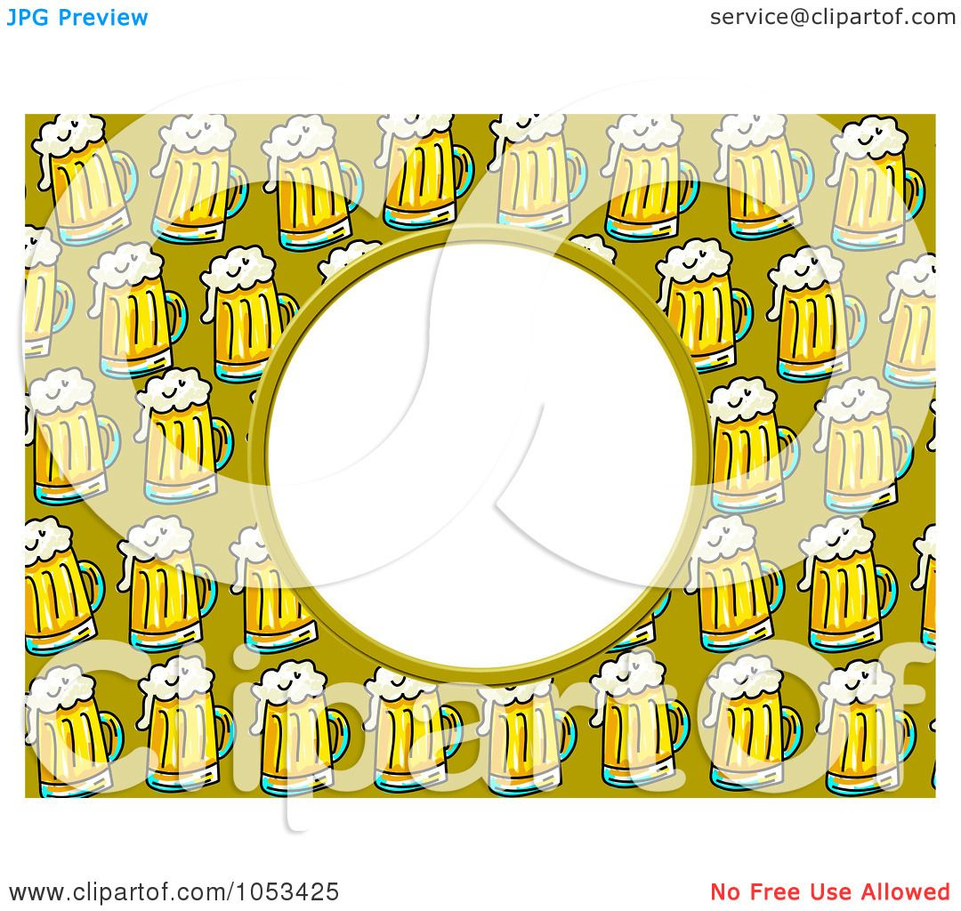 Royalty-Free Clip Art Illustration of a Beer Frame With White Space ...