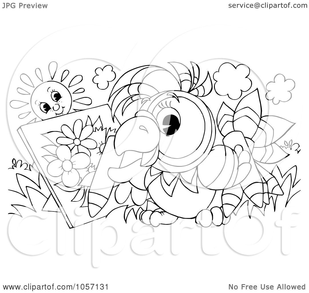 royalty free clip art illustration of a coloring page outline of a