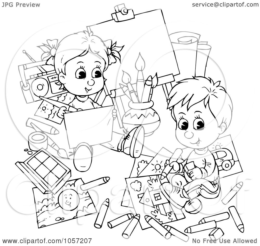 Kid Body Outline Coloring Pages