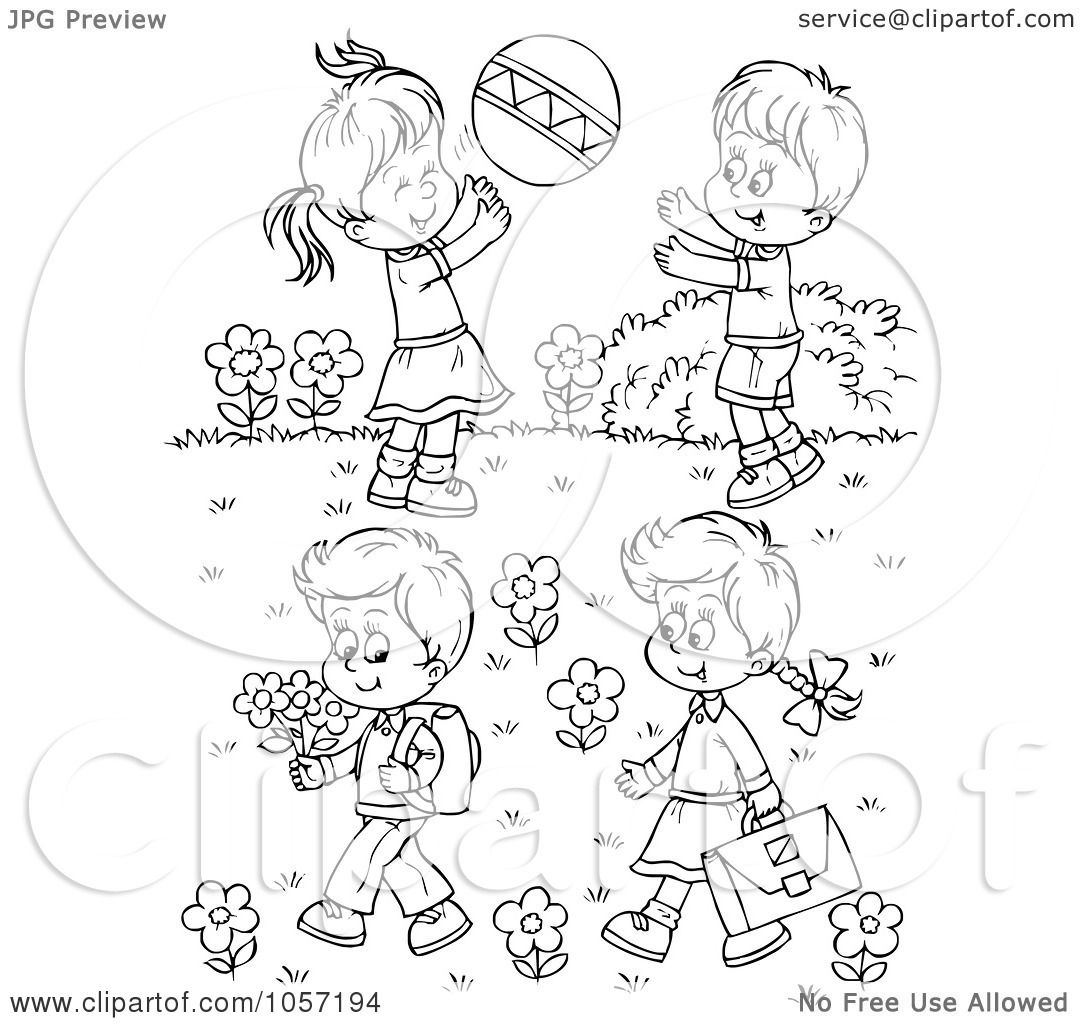 Adult Best Kids Playing Coloring Pages Images cute royalty free clip art illustration of a coloring page outline children playing outside by alex bannykh gallery images