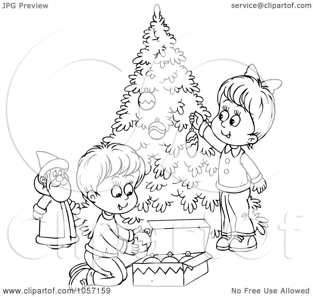 royalty free christmas coloring pages   Royalty-Free Clip Art Illustration of a Coloring Page ...