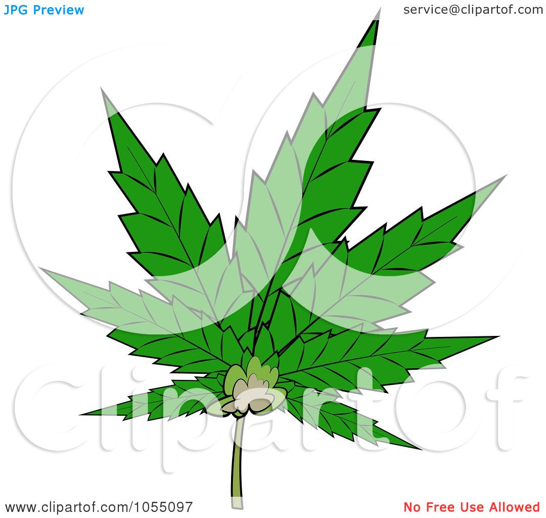 Royalty-Free Clip Art Illustration of a Pot Leaf by Dennis Cox #