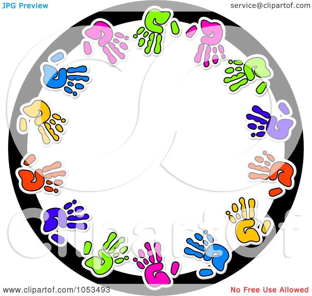 royalty free clip art illustration of a round hand print Leadership Rounding Clip Art Rounding Math Clip Art