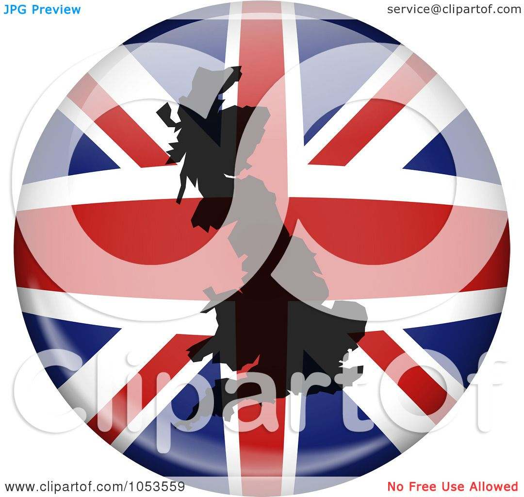 Royalty-Free Clip Art Illustration of a UK Flag Globe With A ...