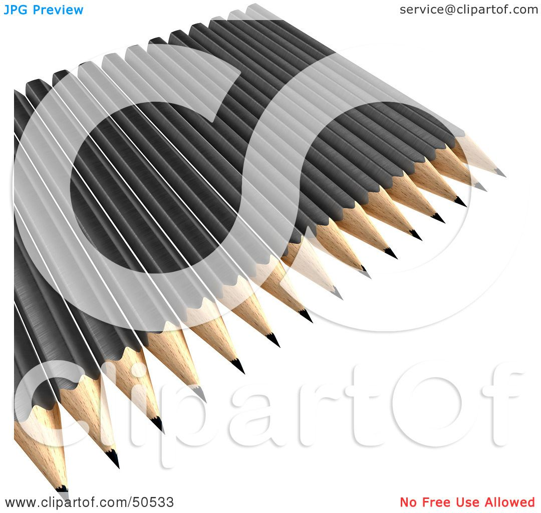 Unsharpened Pencil Clip Art Black And White The gallery for -->...