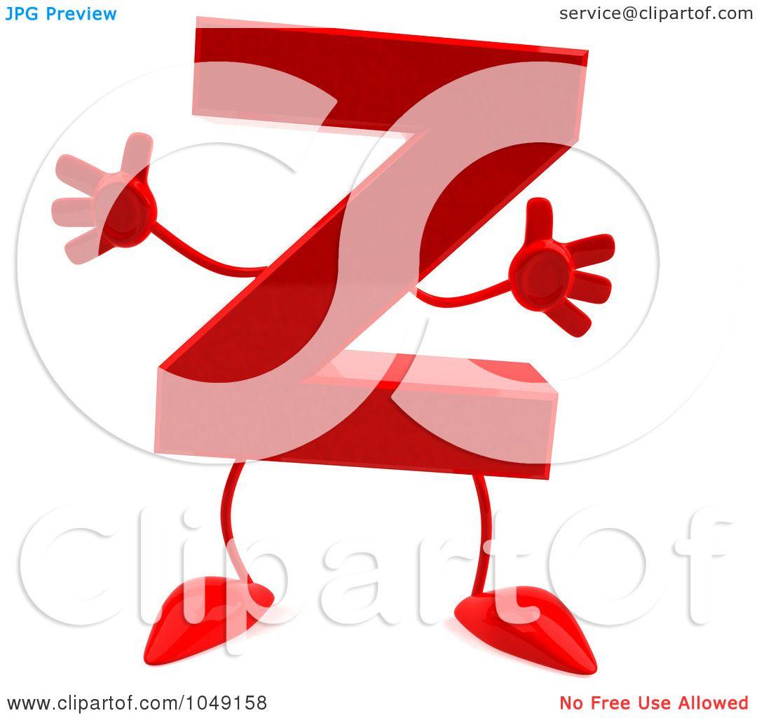 royaltyfree rf clip art illustration of a 3d red letter