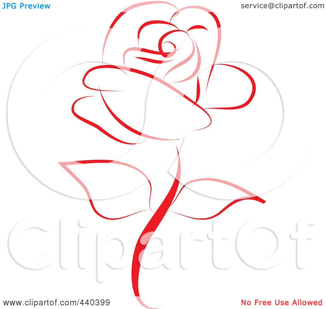 Royalty Free Rf Clip Art Illustration Of A Beautiful Red