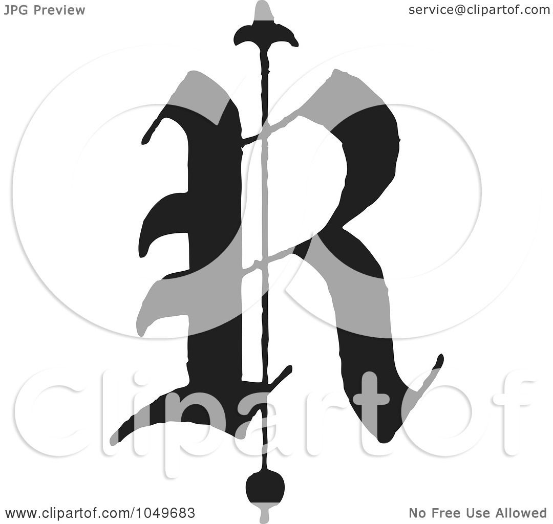 Letter R Art Royalty-free (rf) clip art