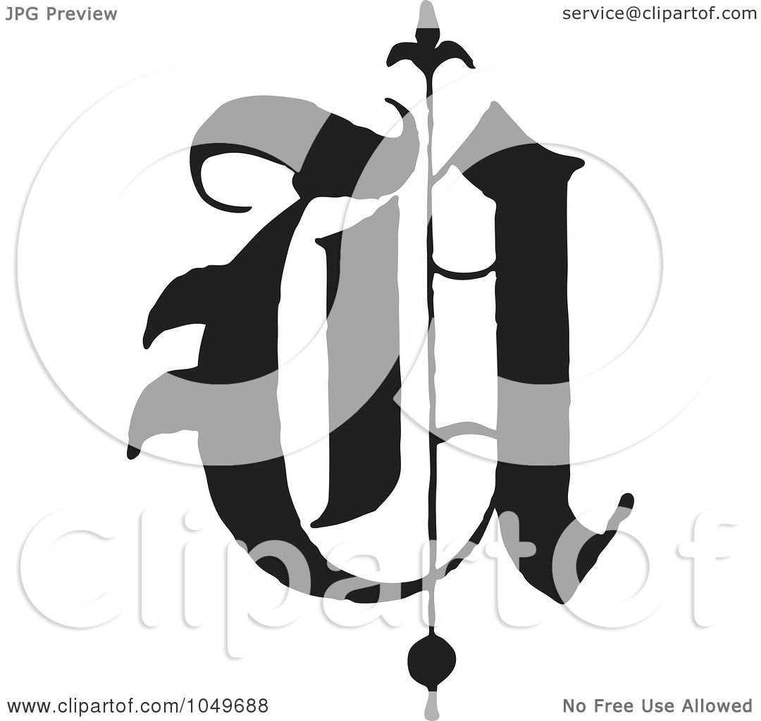 royalty-free (rf) clip art illustration of a black and white old