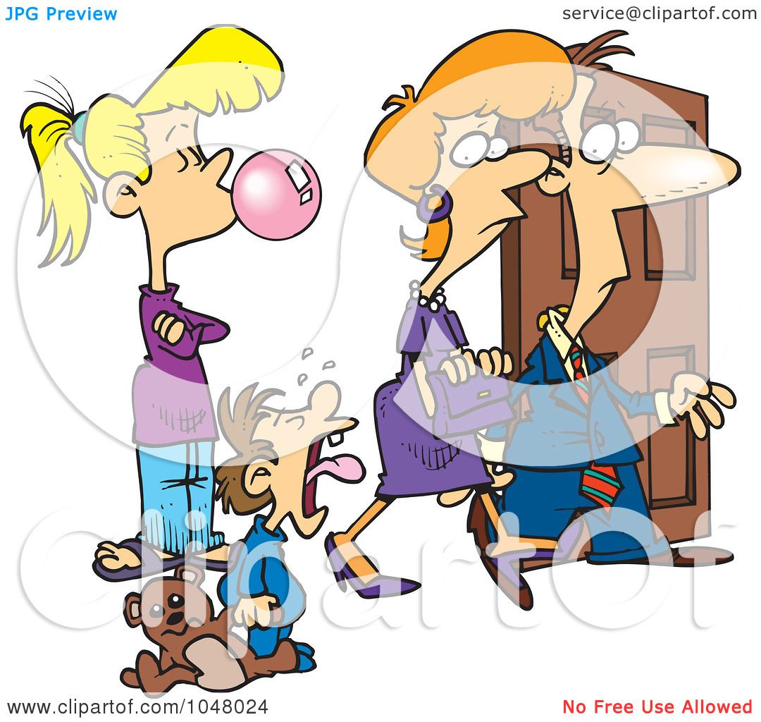 royalty rf clip art illustration of a cartoon babysitter royalty rf clip art illustration of a cartoon babysitter watching parents leave by ron leishman
