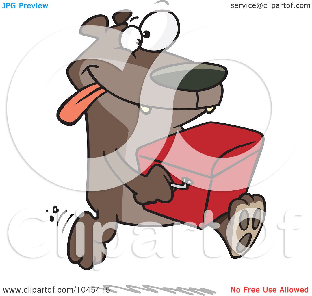 Royalty-Free (RF) Clip Art Illustration of a Cartoon Bear Stealing A Cooler by ...