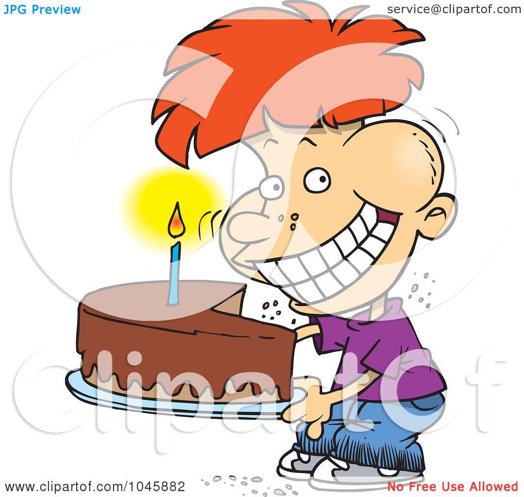 RoyaltyFree RF Clip Art Illustration of a Cartoon Birthday Boy