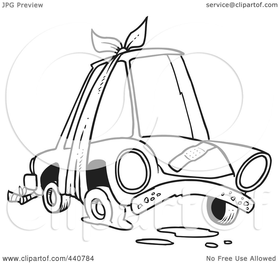 Image Result For Car Flat Tire Clip Art