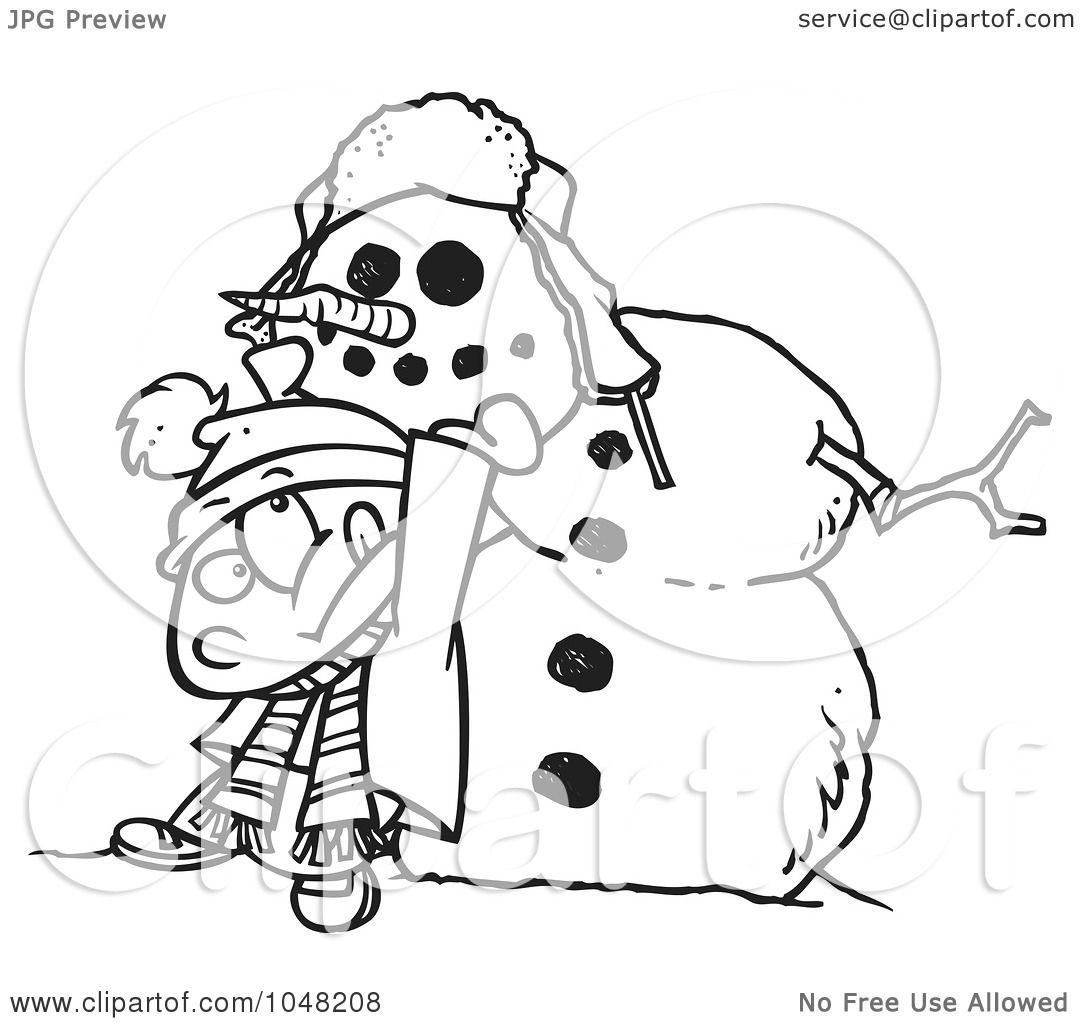 Blank Snowman Clip Art Black And White Royalty-free (rf) clip art