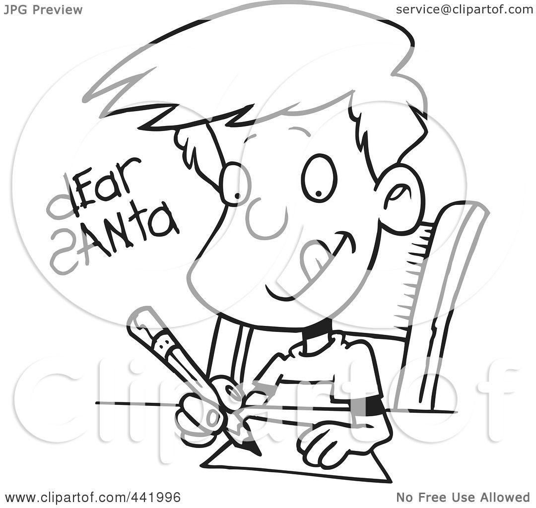 RoyaltyFree Rf Clip Art Illustration Of A Cartoon Black And White