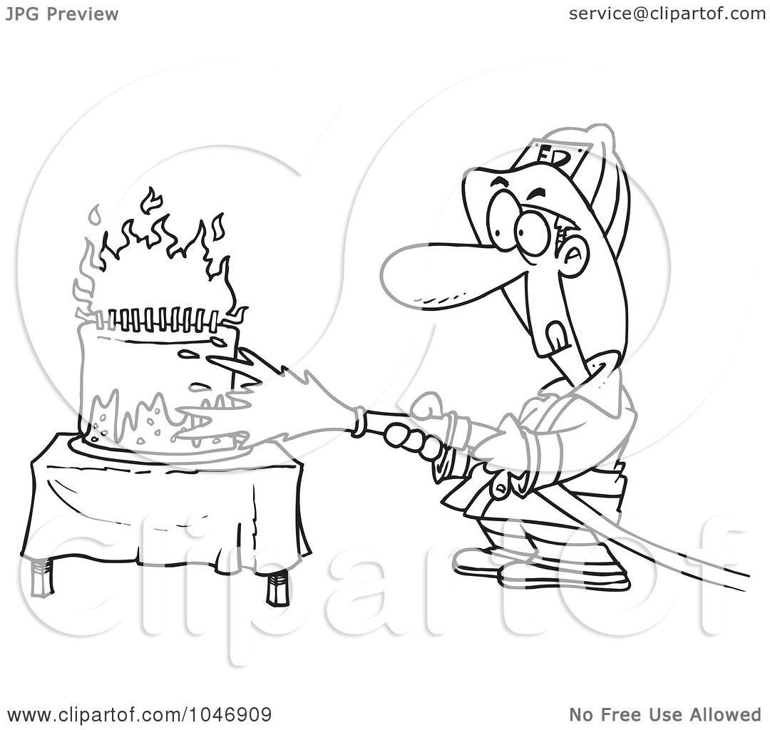 RoyaltyFree RF Clip Art Illustration of a Cartoon Black And White